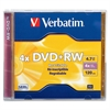 Verbatim 94520 DVD Rewritable Media - DVD+RW - 4x - 4.70 GB - 1 Pack Jewel Case - 2 Hour Maximum Recording Time
