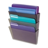 Deflect-o Wall File with Mounting Hardware - Wall Mountable - Smoke - Plastic - 1Each