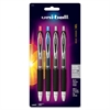 Uni-Ball Signo 207 Retractable Gel Pens - Medium Point Type - 0.7 mm Point Size - Refillable - Assorted Gel-based Ink - 4 / Pack