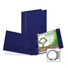 "Earth's Choice Bio-based Round Ring Storage Binder - 2"" Binder Capacity - Round Ring Fastener - 2 Internal Pocket(s) - Polypropylene - Blue - Recycled - 1 Each"