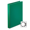 "Cardinal BasicSelect Round Ring Binder - 1"" Binder Capacity - Letter - 8 1/2"" x 11"" Sheet Size - 225 Sheet Capacity - 3 x Round Ring Fastener(s) - 2 Inside Front & Back Pocket(s) - Vinyl - Green - 1 E"