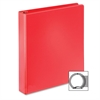 "BasicSelect Round Ring Binder - 1 1/2"" Binder Capacity - Letter - 8 1/2"" x 11"" Sheet Size - 350 Sheet Capacity - 3 x Round Ring Fastener(s) - 2 Inside Front & Back Pocket(s) - Vinyl - Red - 1"