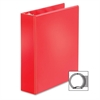 "BasicSelect Round Ring Binder - 2"" Binder Capacity - Letter - 8 1/2"" x 11"" Sheet Size - 475 Sheet Capacity - 3 x Round Ring Fastener(s) - 2 Inside Front & Back Pocket(s) - Vinyl - Red - 1 Eac"