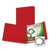 "Samsill Earth's Choice Bio-based Round Ring Storage Binder - 1"" Binder Capacity - Round Ring Fastener - 2 Internal Pocket(s) - Polypropylene - Red - Recycled - 1 Each"