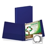 "Samsill Earth's Choice Bio-based Round Ring Storage Binder - 1"" Binder Capacity - Round Ring Fastener - 2 Internal Pocket(s) - Polypropylene - Blue - Recycled - 1 Each"