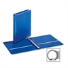 "EconomyValue Round Ring Binder - 1"" Binder Capacity - Letter - 8 1/2"" x 11"" Sheet Size - 225 Sheet Capacity - 3 x Round Ring Fastener(s) - 2 Inside Front & Back Pocket(s) - Vinyl - Blue - 1 E"