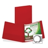 "Samsill Earth's Choice Bio-based Round Ring Storage Binder - 1/2"" Binder Capacity - Round Ring Fastener - 2 Internal Pocket(s) - Polypropylene - Red - Recycled - 1 Each"