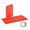 """EconomyValue Round Ring Binder - 1"""" Binder Capacity - Letter - 8 1/2"""" x 11"""" Sheet Size - 225 Sheet Capacity - 3 x Round Ring Fastener(s) - 2 Inside Front & Back Pocket(s) - Vinyl - Red - 1 Ea"""