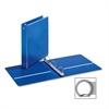 "Cardinal EconomyValue Round Ring Binder - 1 1/2"" Binder Capacity - Letter - 8 1/2"" x 11"" Sheet Size - 350 Sheet Capacity - 3 x Round Ring Fastener(s) - 2 Inside Front & Back Pocket(s) - Vinyl - Blue -"