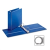 "Cardinal EconomyValue Round-ring Binders - 3"" Binder Capacity - Letter - 8 1/2"" x 11"" Sheet Size - 625 Sheet Capacity - 3 x Round Ring Fastener(s) - 2 Inside Front & Back Pocket(s) - Vinyl - Blue - 1"