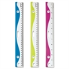"OIC Designer Easy Grip Ruler - 12"" Length - Imperial Measuring System - Plastic - 1 / Each - Assorted"