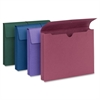 """Smead Redrope and Colored Expanding Wallets with Elastic Cord - Letter - 8 1/2"""" x 11"""" Sheet Size - 2"""" Expansion - Redrope - Assorted - Recycled - 4 / Pack"""