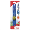 Pentel EnerGel-X Retractable Liquid Gel Pen - Medium Point Type - 0.7 mm Point Size - Refillable - Blue Gel-based Ink - Blue Barrel - 2 / Pack
