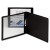 "Frame View Poly Report Covers with Swing Clip - Letter - 11"" x 8 1/2"" Sheet Size - 30 Sheet Capacity - Polypropylene - Black - 5 / Pack"