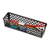 OIC Long Supply Storage Basket - Black - Plastic