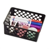 OIC Medium Supply Storage Basket - Black - Plastic