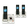 LS6425-3 DECT 6.0 Expandable Cordless Phone with Answering System and Caller ID/Call Waiting, Silver with 2 Handsets - Cordless - 1 x Phone Line - 3 x Handset - Speakerphone - Answering Machine