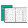 "House of Doolittle Academic Planner - Monthly - 1.2 Year - July 2016 till August 2017 - 1 Month Double Page Layout - 8.50"" x 11"" - Wire Bound - Green - Leatherette, Paper"