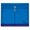 "Pendaflex Side-opening Poly Envelopes - Letter - 8 1/2"" x 11"" Sheet Size - 200 Sheet Capacity - 1 1/4"" Expansion - Polypropylene - Blue - 5 / Pack"