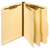 "Manila Classification Folder - Letter - 8 1/2"" x 11"" Sheet Size - 2 1/2"" Expansion - 2 Fastener(s) - 2"" Fastener Capacity for Folder - 2/5 Tab Cut - Right Tab Location - 2 Divider(s) - 18 pt"