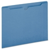 "Pendaflex Colored File Jacket - Letter - 8 1/2"" x 11"" Sheet Size - 50 Sheet Capacity - 11 pt. Folder Thickness - Blue - 100 / Box"