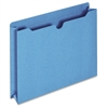 "Pendaflex Double Top Tab Colored File Jackets - Letter - 8 1/2"" x 11"" Sheet Size - 400 Sheet Capacity - 2"" Expansion - 11 pt. Folder Thickness - Blue - 50 / Box"