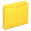 "Colored File Jacket - Letter - 8 1/2"" x 11"" Sheet Size - 400 Sheet Capacity - 2"" Expansion - 11 pt. Folder Thickness - Yellow - 50 / Box"