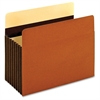 "Pendaflex Heavy-duty Accordion File Pockets - Letter - 8 1/2"" x 11"" Sheet Size - 1600 Sheet Capacity - 7"" Expansion - 24 pt. Folder Thickness - Redrope - Brown - 5 / Box"