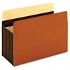 "Heavy Duty Pocket - Legal - 8 1/2"" x 14"" Sheet Size - 1600 Sheet Capacity - 7"" Expansion - 24 pt. Folder Thickness - Redrope - Brown - 5 / Box"