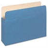 "Pendaflex 3-1/2"" Expansion Colored File Pockets - Letter - 8 1/2"" x 11"" Sheet Size - 875 Sheet Capacity - 3 1/2"" Expansion - Top Tab Location - 9 pt. Folder Thickness - Tyvek, Card Stock - Blue - 1 /"