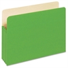 "Pendaflex 3-1/2"" Expansion Colored File Pockets - Letter - 8 1/2"" x 11"" Sheet Size - 875 Sheet Capacity - 3 1/2"" Expansion - Top Tab Location - 9 pt. Folder Thickness - Tyvek, Card Stock - Green - 1 /"
