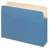 "Colored File Pocket - Letter - 8 1/2"" x 11"" Sheet Size - 1100 Sheet Capacity - 5 1/4"" Expansion - Top Tab Location - 9 pt. Folder Thickness - Tyvek, Card Stock - Blue - 1 Each"