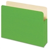 "Colored File Pocket - Letter - 8 1/2"" x 11"" Sheet Size - 1100 Sheet Capacity - 5 1/4"" Expansion - Top Tab Location - 9 pt. Folder Thickness - Card Stock - Green - 1 Each"