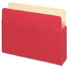 "Pendaflex 5-1/4"" Capacity Expanding File Pockets - Letter - 8 1/2"" x 11"" Sheet Size - 1100 Sheet Capacity - 5 1/4"" Expansion - Top Tab Location - Tyvek, Card Stock - Red - 1 Each"