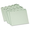 "Pendaflex Recycled Daily Indexed Top Tab Guides - Letter - 8 1/2"" x 11"" Sheet Size - 1/5 Tab Cut - Assorted Position Tab Location - 25 pt. Folder Thickness - Pressboard - Light Green - 30 / Set"