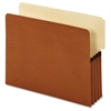 "Pendaflex End Tab Pocket - Letter - 8 1/2"" x 11"" Sheet Size - 800 Sheet Capacity - 3 1/2"" Expansion - 2/5 Tab Cut - 24 pt. Folder Thickness - Redrope - Brown - 10 / Box"