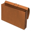 "Pendaflex Expanding Width File Folder Wallet - Legal - 10"" x 15 3/8"", 8 1/2"" x 14"" Sheet Size - 1200 Sheet Capacity - 5 1/4"" Expansion - Top Tab Location - 11 pt. Folder Thickness - Redrope - Brown -"