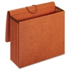 "Recycled Expanding Wallet - Letter - 8 1/2"" x 11"" Sheet Size - 12000 Sheet Capacity - 5 1/4"" Expansion - Redrope - Brown - 1 / Each"