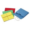 "Paper Envelope - 9 1/2"" x 11 3/4"" Sheet Size - 500 Sheet Capacity - 2"" Expansion - 11 pt. Folder Thickness - Paper - Yellow, Blue, Green, Red - 50 / Box"