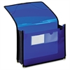 "Pendaflex 3-1/2"" Expansion Poly Wallet - Letter - 8 1/2"" x 11"" Sheet Size - 800 Sheet Capacity - 3 1/2"" Expansion - 2 Front Pocket(s) - Polypropylene - Blue - 9.12 oz - 1 Each"