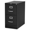 "Commercial-grade Vertical File - 15"" x 22"" x 28.4"" - 2 x Drawer(s) for File - Letter - Lockable, Ball-bearing Suspension - Black - Recycled"