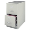 "Lorell Commercial-grade Vertical File - 15"" x 22"" x 28.4"" - 2 x Drawer(s) for File - Letter - Lockable, Ball-bearing Suspension - Light Gray - Recycled"