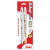 Sunburst Semi-Transparent Rollerball Pen - Medium Point Type - 0.8 mm Point Size - Refillable - Gold, Silver Gel-based Ink - 2 / Pack