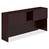 "HON Voi Stack-On Hutch - 72"" x 14.3"" x 13"" - Drawer(s)4 Door(s) - Finish: Laminate, Mahogany"
