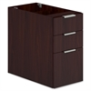 "HON Voi Support Pedestal - 16"" x 30"" x 28.3"" - 3 x Box Drawer(s), File Drawer(s) - Finish: Laminate, Mahogany"