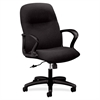 "HON Gamut H2072 Mid-Back Management Chair with Loop Arms - Vinyl Black Seat - Black Frame - 5-star Base - 20.25"" Seat Width x 16.63"" Seat Depth - 27.5"" Width x 36.3"" Depth x 43.6"" Height"