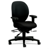 "HON Unanimous H7628 Mid Back Managerial Chair - Fabric Black Seat - Steel Black Frame - 5-star Base - 19"" Seat Width x 20"" Seat Depth - 27.1"" Width x 39"" Depth x 42.5"" Height"