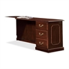 "DMi Governer Credenza - 72"" x 21"" x 30"" - 3 - Single Pedestal on Right Side - Material: Fiberboard, Wood - Finish: Laminate, Mahogany"