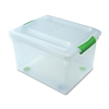 "I.R.I.S. Stor N Slide Plastic Storage File Boxes - External Dimensions: 13.8"" Width x 17.5"" Depth x 12""Height - Media Size Supported: Letter, Legal - Stackable - Green - For File - 4 / Carton"