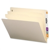 "Sparco End Tab Classification Folder - Legal - 8 1/2"" x 14"" Sheet Size - 2"" Fastener Capacity - End Tab Location - 2 Divider(s) - 18 pt. Folder Thickness - Manila - Manila - Recycled - 10 / Box"